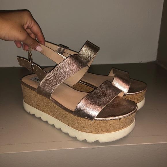 Steve Madden Platform Sandals In Rose